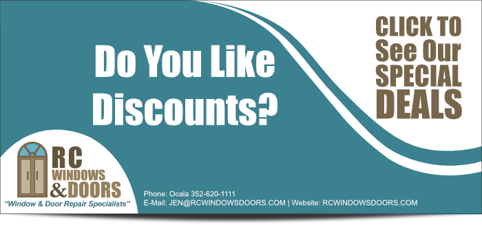 Click for Window and Door Discounts & Specials